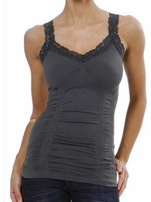 M Rena Favorite Lace Camisole - Dark Grey