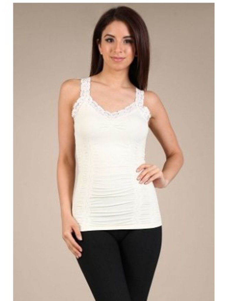 M Rena Favorite Lace Camisole - Ivory