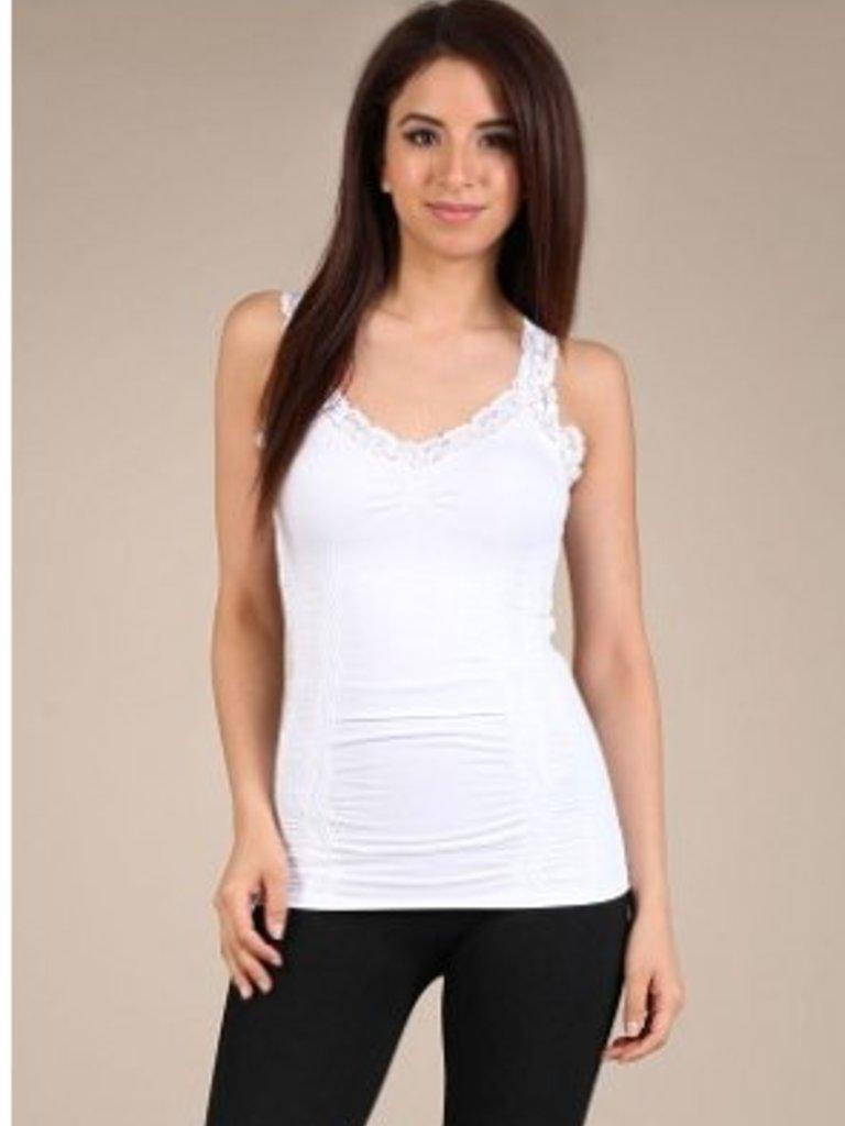 M Rena Favorite Lace Camisole - White