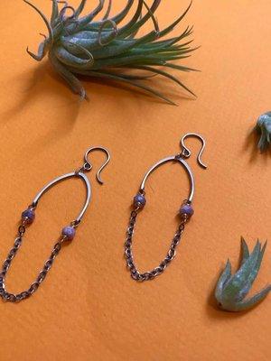 Amy Olson Maia Earrings - Pink Sapphire