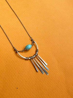 Amy Olson Fringe Necklace - Turquoise