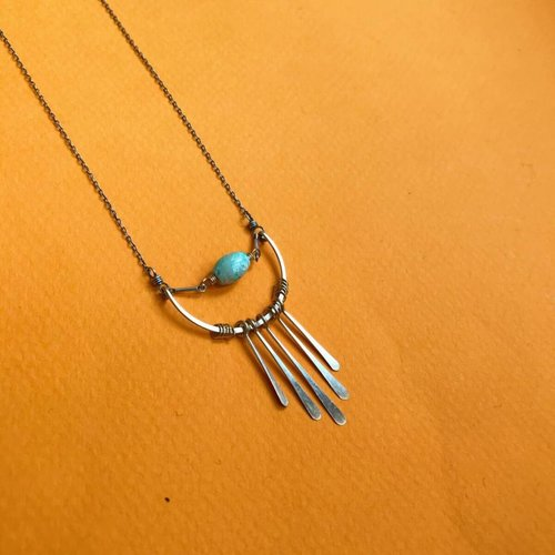 Amy Olson Fringe Necklace - Turquoise