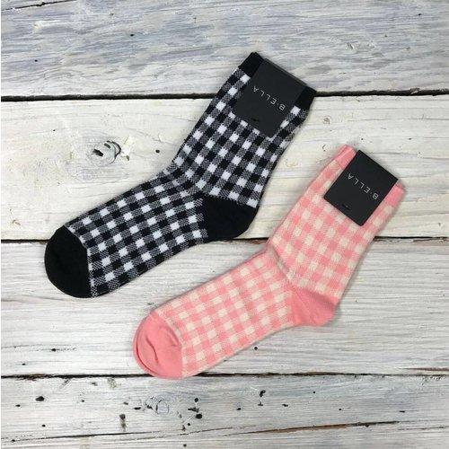 B. Ella Gingham Socks - multiple colors