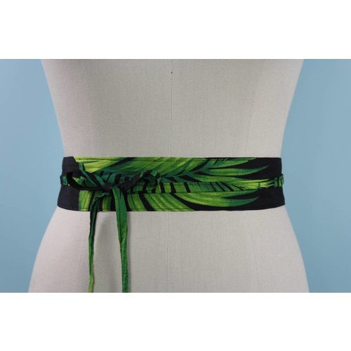 Sarah Bibb Mini Obi Belt- Palm