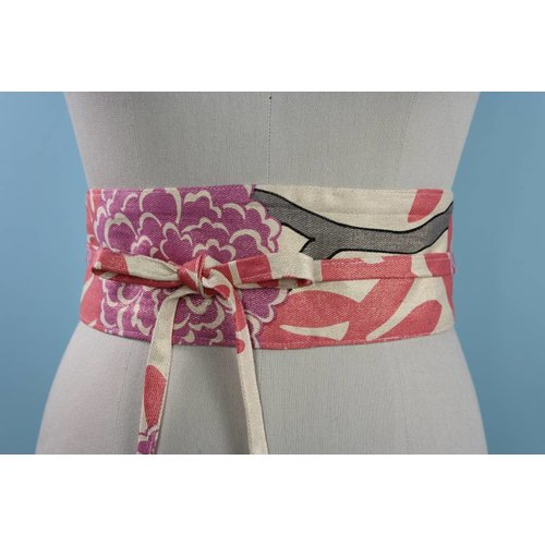 Sarah Bibb Obi Belt- Chrysanthemum