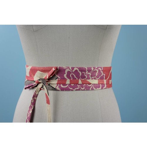Sarah Bibb Mini Obi Belt  - Chrysanthemum