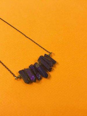 Peter and June Echo Necklace -Purple Quartz