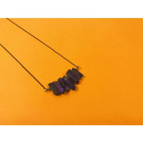 Peter and June Echo Necklace -Purple Quartz