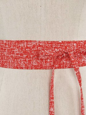 Sarah Bibb Mini Obi Belt-  Red Blur