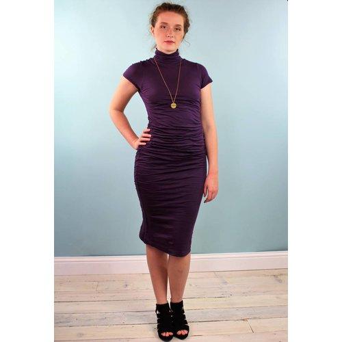 Velvet Valda Dress - Iris