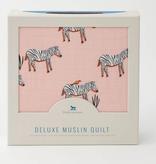 Little Unicorn Deluxe Muslin Quilt - Zebra UB0619