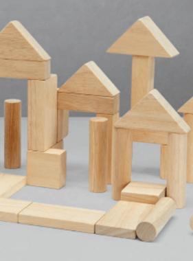 Plan Toys 40 Unit Blocks - Natural 5512
