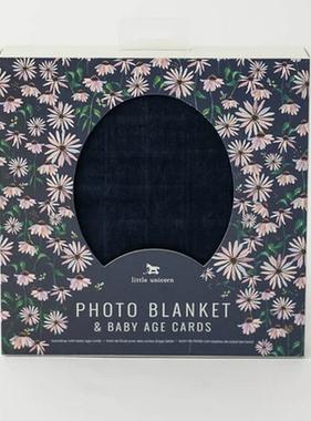 Little Unicorn Photo Blanket - Dark Coneflower