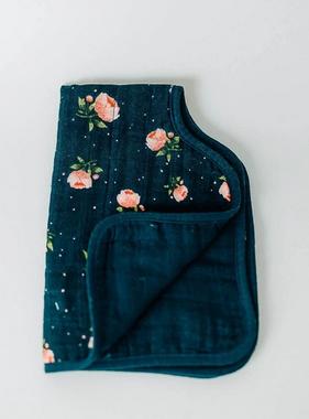 Little Unicorn Cotton Muslin Burp Cloth - Midnight Rose