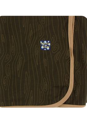 Kickee Pants Print Swaddle Blanket, Petrified Wood