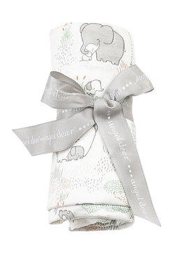 Angel Dear Elephants Swaddle Blanket 45x45