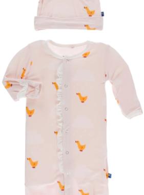 Kickee Pants Print Lightweight Sleeping Bag Macaroon Puddle Duck