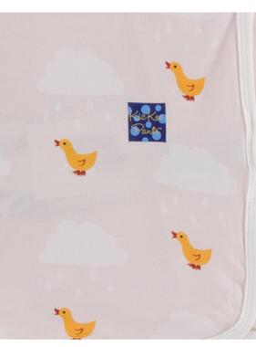 Kickee Pants Print Swaddling Blanket Macaroon Puddle Duck