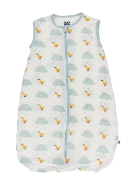Kickee Pants Print Lightweight Sleeping Bag Natural Puddle Duck