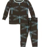 Kickee Pants Print LS PJ Set Giant Dragonfly