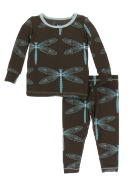 Kickee Pants Print LS PJ Set Giant Dragonfly