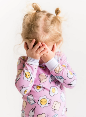 Little Sleepies Pink Breakfast Buddies PJ Set