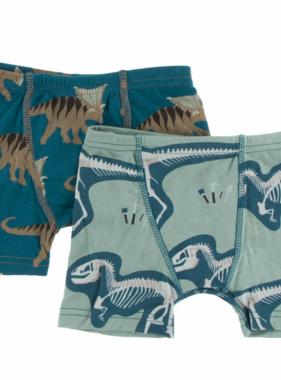Kickee Pants Boxer Briefs Set Heritage Blue Kosmocaratops