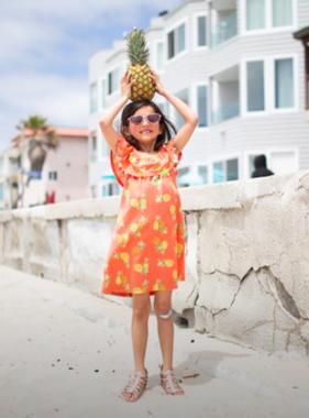 Haven Children Savvy Dress, Pineapple