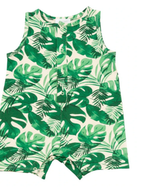 Angel Dear Monstera Deliciosa Slvlss Shortie Romper