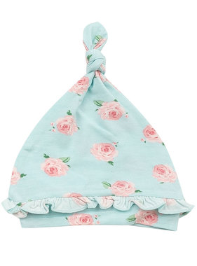 Angel Dear Petit Rose Ruffle Knot Hat 0-3 months