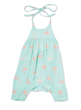 Angel Dear Flamingo Romper Bow Back