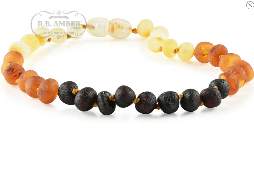 R.B. Amber Baltic Amber Necklace : Raw Rainbow / 10-11""