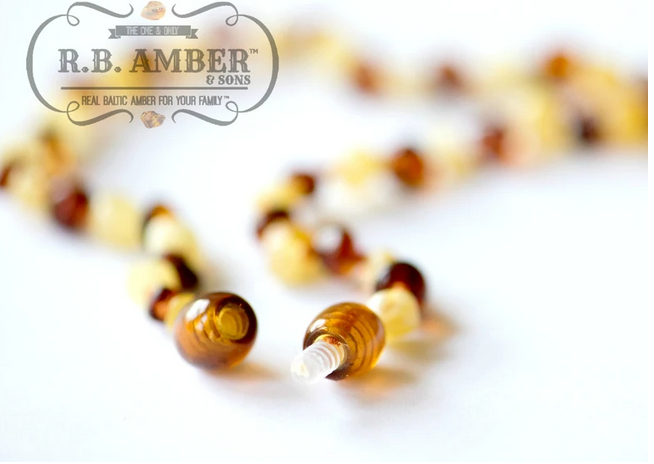 """R.B. Amber Baltic Amber Necklace Multi / 10-11"""""""