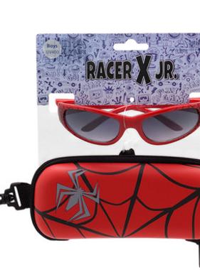 Hang Ten Red Spiderman Sunglasses/Case RCXJR02B