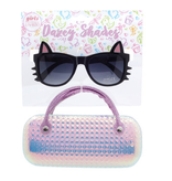 Hang Ten Black Cat Sunglasses/Shimmer Case DST03A