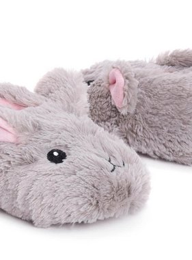 Muk Luk Girls Slipper Grey Bunny