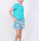 Candy Pink Yogacorn Short, Aqua
