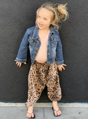 Born By The Shore Harem Pants, Cheetah