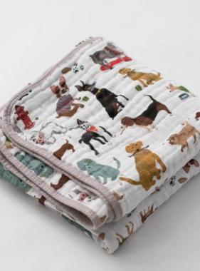 Little Unicorn Cotton Muslin Quilt - Woof UB0258