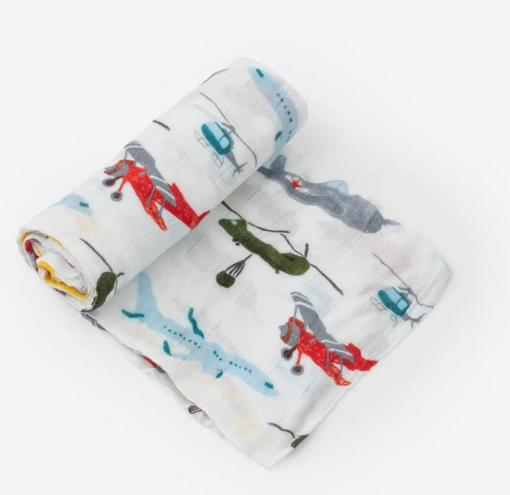 Little Unicorn Deluxe Muslin Swaddle Single - Air Show