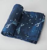 Little Unicorn Cotton Muslin Single Swaddle-Flock of Stars