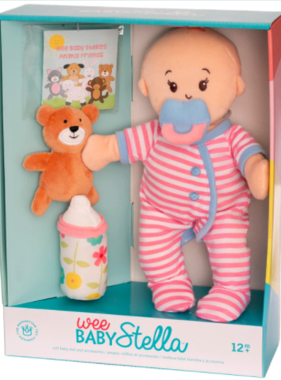 Manhattan Toy Wee Baby Stella Peach Doll Sleepy Time Scents Set 152960 MAIL DELIVERY ONLY
