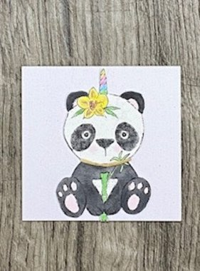 Greeting Cards Enclosure Card - Pandacorn