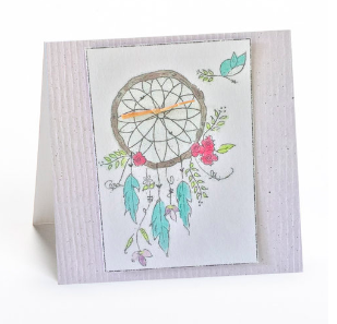 Greeting Cards Enclosure Card - Dream Catcher