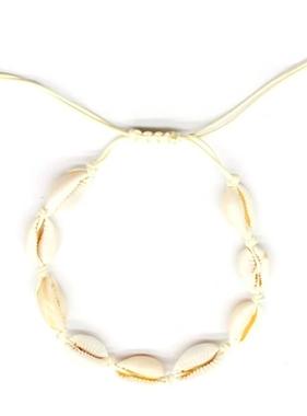 Top Trenz Puka Shell Bracelet - White
