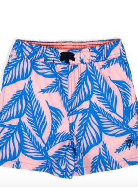 Shade Critters Swim Trunks- Blue Palm Reader