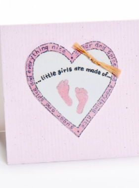 Greeting Cards Enclosure Card - Little Girls Are Made Of