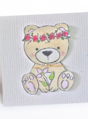 Greeting Cards Enclosure Card - Bear