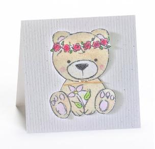 Greeting Cards Enclosure Card - Bear