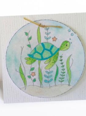 Greeting Cards Enclosure Card - Sea Turtle
